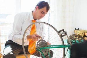 自転車の整備