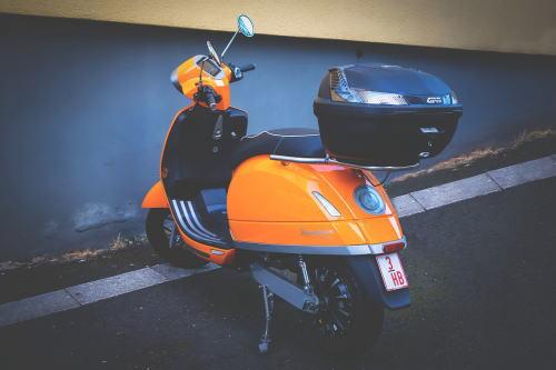 リヤボックスのスクーター